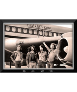 Led Zeppelin With The Starship Tour Plane - Framed Canvas - Facsimile Au... - $380.00
