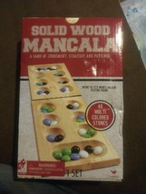 Cardinal Games Solid Wood Mancala 48 Multi Colored Stones Strategy Patie... - $18.19
