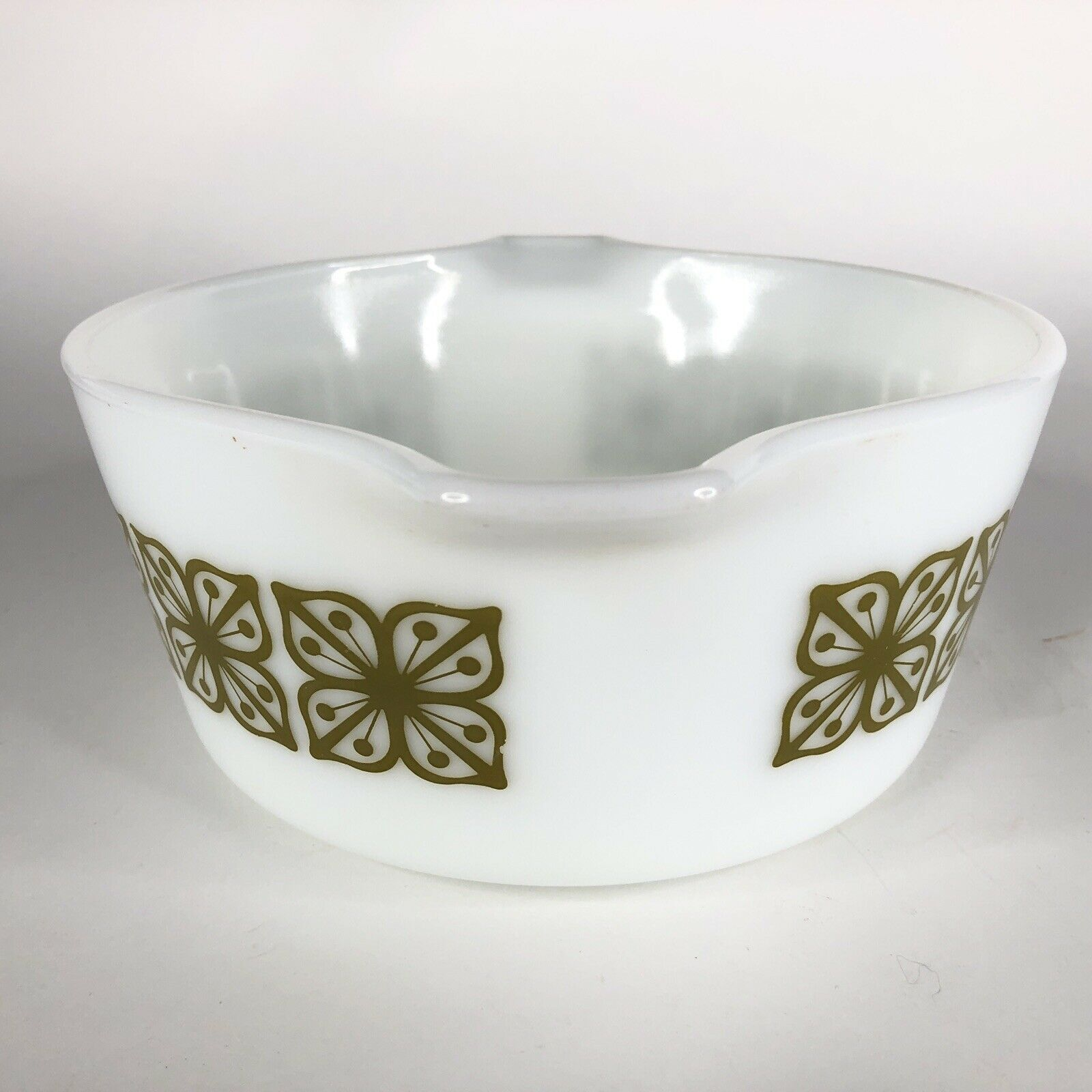 Pyrex Verde Square Green Flower Casserole Dish 474 B Covered Baking 1.5 Quart QT image 6