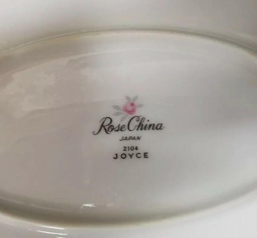 Rose China: 71 Piece Set, Joyce 2104, White w Gold Trim, Fine China, Japan image 10