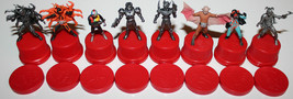 Masked Rider Kamen Bottle Cap Stamp Figure Set of 8 2002 Series Bandai - $51.34