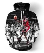 Men/women 3D Pullover Hoodie Jordan Dunk Sweatshirt Long Sleeve Crew Nec... - $51.99+