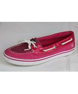 Sperry top sider Biscayne women's shoes sparkly glitter pink size 4M - $18.99