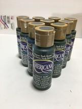 NEW Americana Acrylic Paint Houser Dark Green 2 fluid oz. (Lot of 10) Bottles - $18.99