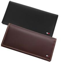 Tommy Hilfiger Leather Secretary Checkbook ID Zip Coin Organizer Yen Wallet