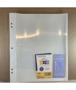 Hallmark AR6555 Photo Album Large Post Bound 3 Ring Refill Self Adhesive... - $24.76