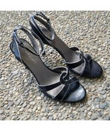Nine & Company Black with Silver Trim - Ankle Tie - Size 6 - $14.99