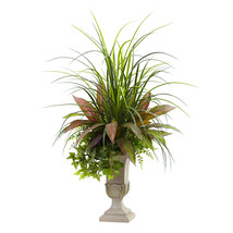 3' Mixed Grass, Dracena, Sage Ivy & Fern w/Planter - $74.00