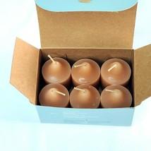 Partylite Brandied Apricot Votives 6 Piece Box Set V06324 Peach Color - $14.98