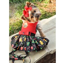 Holiday Dog Harness Dress - Gingerbread - $49.99
