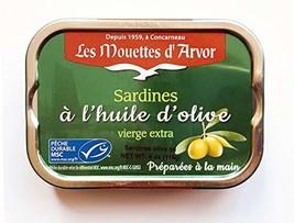 Mouettes d'Arvor Gonidec French Sardines Fillets in Extra Virgin Olive Oil - 4 o
