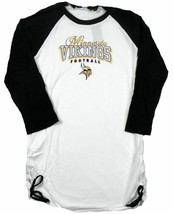 Large Junior Women's Minnesota Vikings Shirt G-III Touch 3/4 Sleeve Tee T-Shirt
