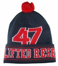LRG Mens Navy Red Core Collection Men's 47 Lifted Pom Beanie Winter Hat NWT image 2