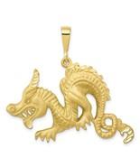 10K Solid Yellow Gold Dragon Pendant - $389.99