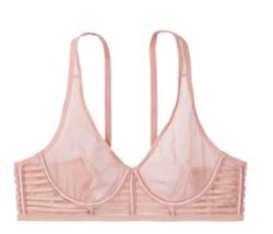 Victoria's Secret Unlined Mesh Plunge Bra 38DDD Nude - $45.00