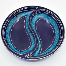 Crafts Caravan Handmade Kisii Soapstone Twilight Sea Yin Yang Shape Divided Bowl