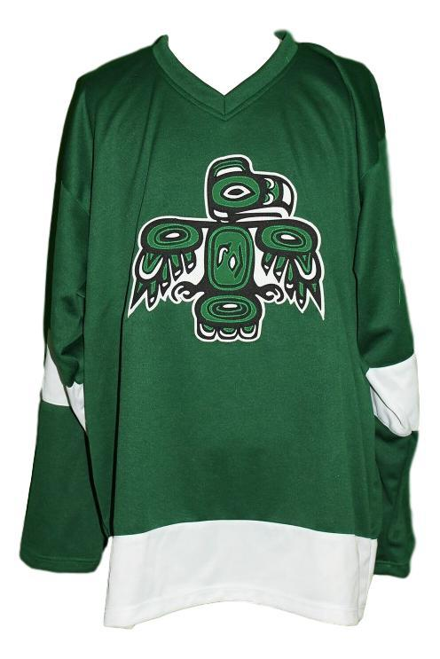 Seattle totems retro hockey jersey 1970 green   1