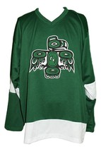 Any Name Number Seattle Totems Hockey Jersey 1970 Green Any Size image 1