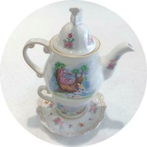 Disney Alice in Wonderland Teapot & Teacup Set no Box cute - $160.90