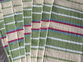 Set of 8 Bright Spring Color Stripe Weave Cotton Placemats - $36.00