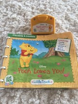 Leap Frog Baby Little Touch POOH LOVES YOU Piglet Tigger Eeyore Book Car... - $4.50