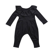 Pudcoco Adorable Newborn Baby Girls Ruffle Long Sleeve Romper New Fashio... - $12.00