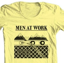 Men At Work T-shirt Business as Usual retro 1980s music 100% cotton yellow tee image 2