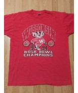 VTG Single Stitch 1994 Rose Bowl Wisconsin Badgers T-Shirt Made USA Red ... - $29.69