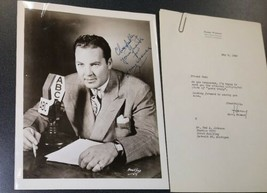 Harry Wismer Signed & Inscribed Photograph with a 1949 Typed Letter Signed - $94.05