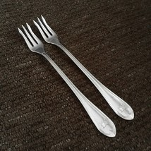 International - THREADED OVAL 1910 - Silverplate Seafood Cocktail Forks ... - $9.99