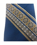 Vintage CARSON PIRIE SCOTT Tie Blue and Gold RARE Made in Israel FREE SH... - $15.85