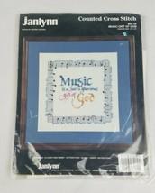 Vintage Janlynn Gezählter Kreuzstich Musik Geschenk Gottes 64-10 Handarbeit - $7.90