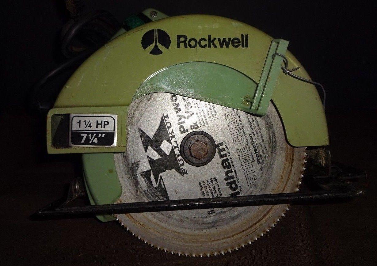 Primary image for Vintage ROCKWELL Model 4511 Type 3 Circular Saw Green (5800 RPM)