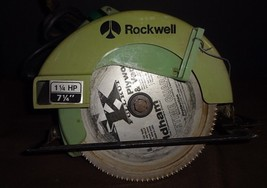 Vintage ROCKWELL Model 4511 Type 3 Circular Saw Green (5800 RPM) - $39.20