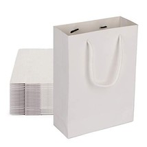 "Deesoo White Kraft Bags, Kraft Paper Gift Bags 50 PCS 7.5x3.1x10.2"" Small Paper"