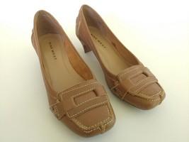 NIne West Womens Size 5.5 Brown Slip On Kitten Heels Shoes - $26.72