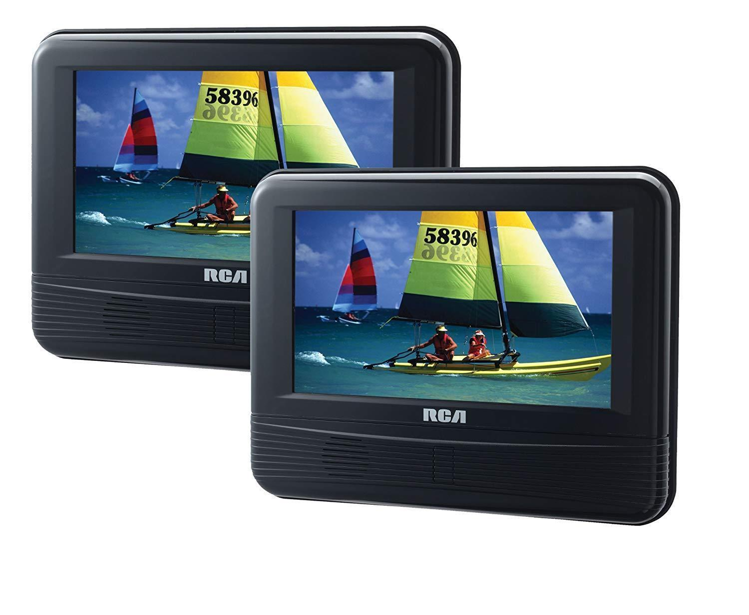 "RCA 7"" DRC69705E22 LCD Dual Screen Portable Mobile DVD Player System BRAND NEW!!"