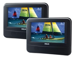 "Rca 7"" DRC69705E22 Lcd Dual Screen Portable Mobile Dvd Player System Brand New!! - $84.95"