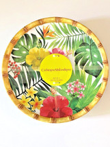 "CATHERINE MALANDRINO Melamine Plates 9"" Palm Leaf Dessert Salad Lunch se... - $799,34 MXN"