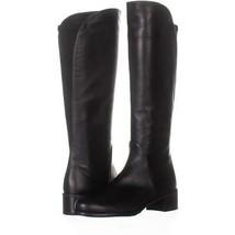 Stuart Weitzman Villepentagon Knee High Boots 207, Black Leather, 5.5 US - $223.67