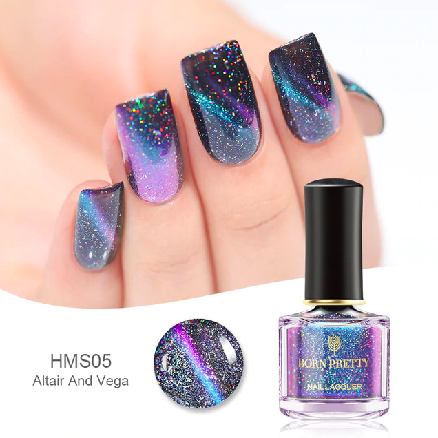 HOLOGRAPHIC 3D MAGNETIC SERIES Glitter Varnish Magnet Nail Art Lacquer image 2