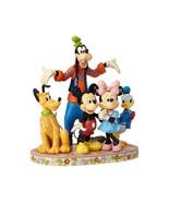 "Jim Shore ""The Gang's All Here"" Goofy, Pluto, Donald Duck, Mickey & Minn... - $103.94"