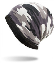 Thickened Warm Baggy Camouflage Skull Hat - $12.69