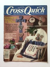 Cross Quick Cross Stitch  Magazine Feb March 1990 Volume 11 Number 3 - $4.94