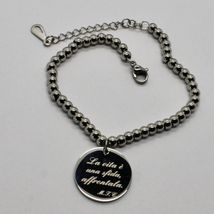 STEEL BRACELET 0,5 AGATE WITH ODE TO LIFE OF MOTHER TERESA OF CALCUTTA image 5