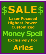 Sale Billionaire Custom Magick for Aries Cast99x + Money Love Protection... - $119.50