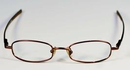 Fossil JEAN-CLAUDE Shiny Brown Metal Eyeglass Frames Designer Style Rx Eyewear - $9.12