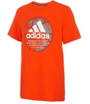adidas Boys Basketball Graphic Orange T Shirt Size 6 New - $15.83