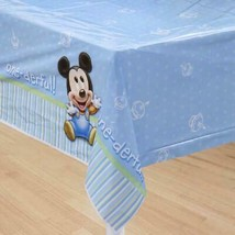 Disney Mickey Mouse 1st Birthday Plastic Table Cover 1 Per Pkg Party Supplies - $7.87