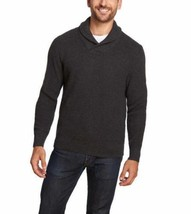 Weatherproof Vintage Men's Shawl Collar Pullover Knit Sweater Charcoal  ... - $19.79